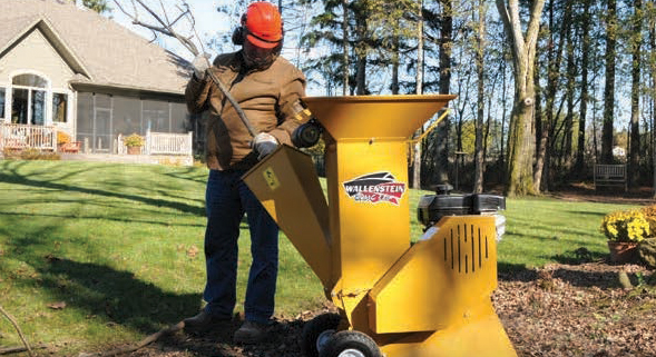 Wallenstein BXMC Hand Cart Wood Chipper/Shredders