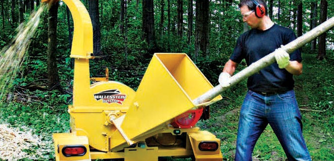 Wallenstein BXT Trailer Wood Chipper