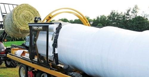 Tube-Line Inline Bale Wrapper