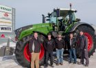 The Vollmer Family taking delivery of their Fendt 1038