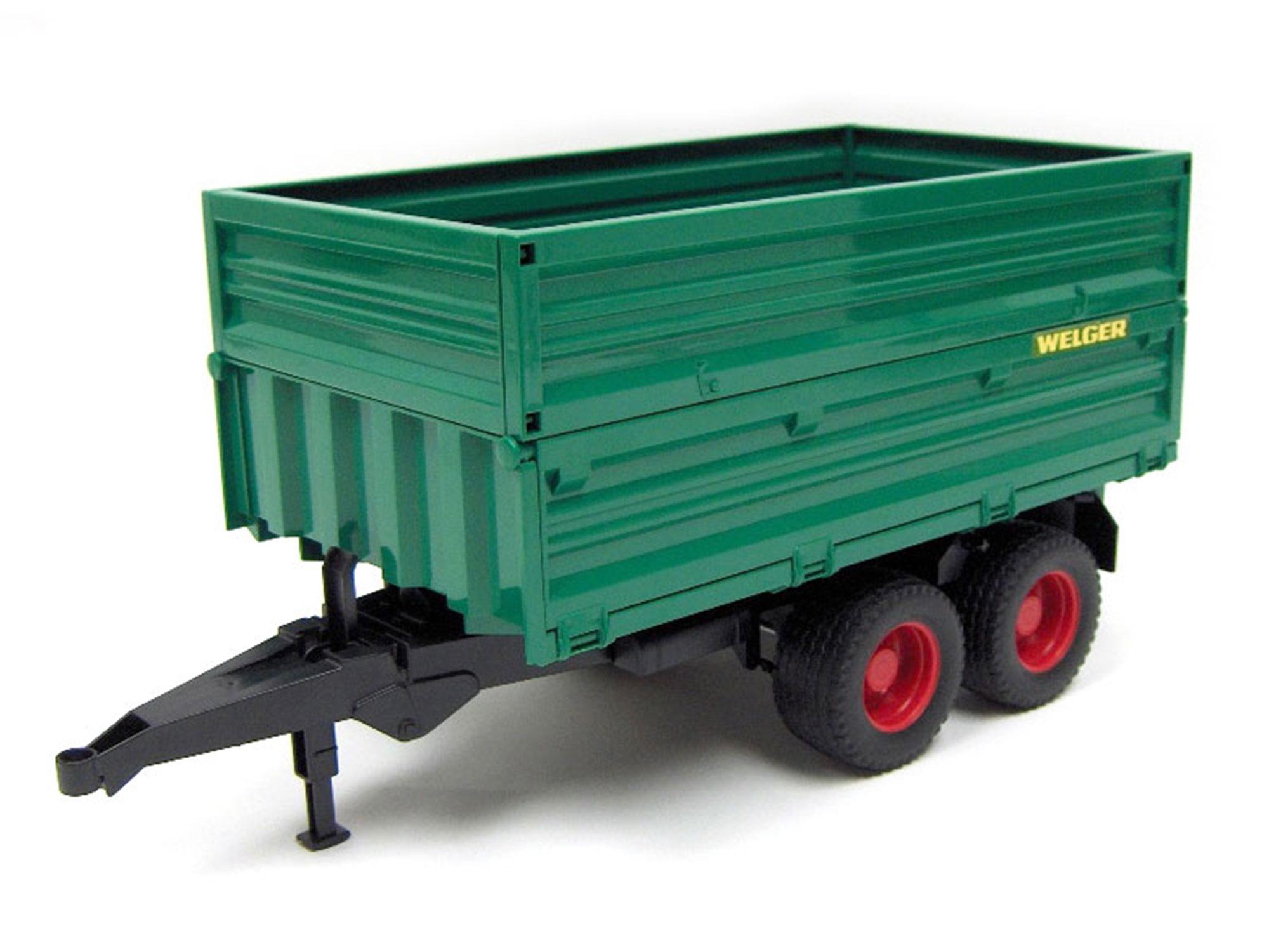 bruder tandem-axle dump trailer