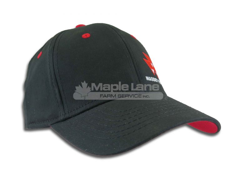 massey black fitted hat