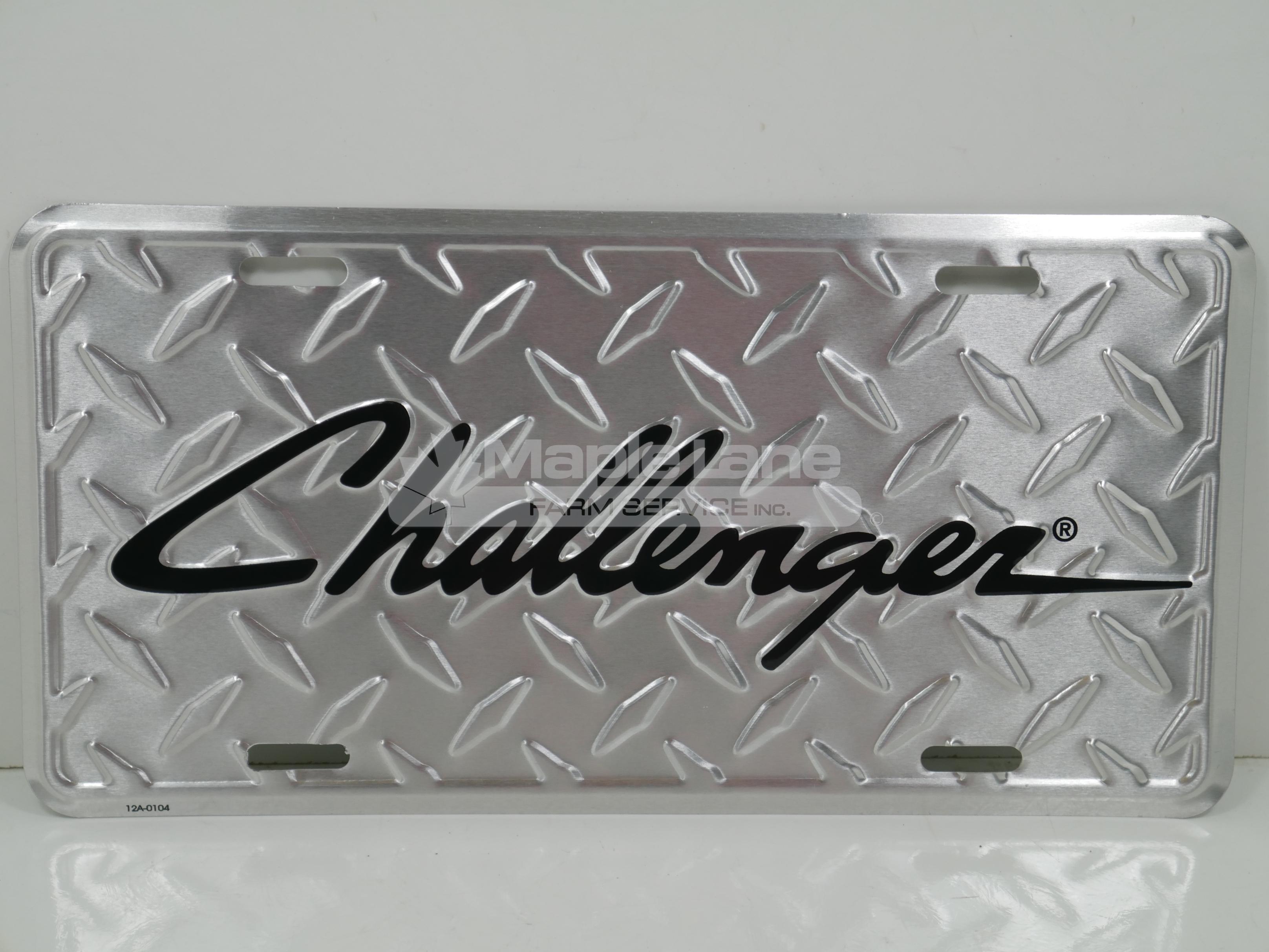 Challenger License Plate