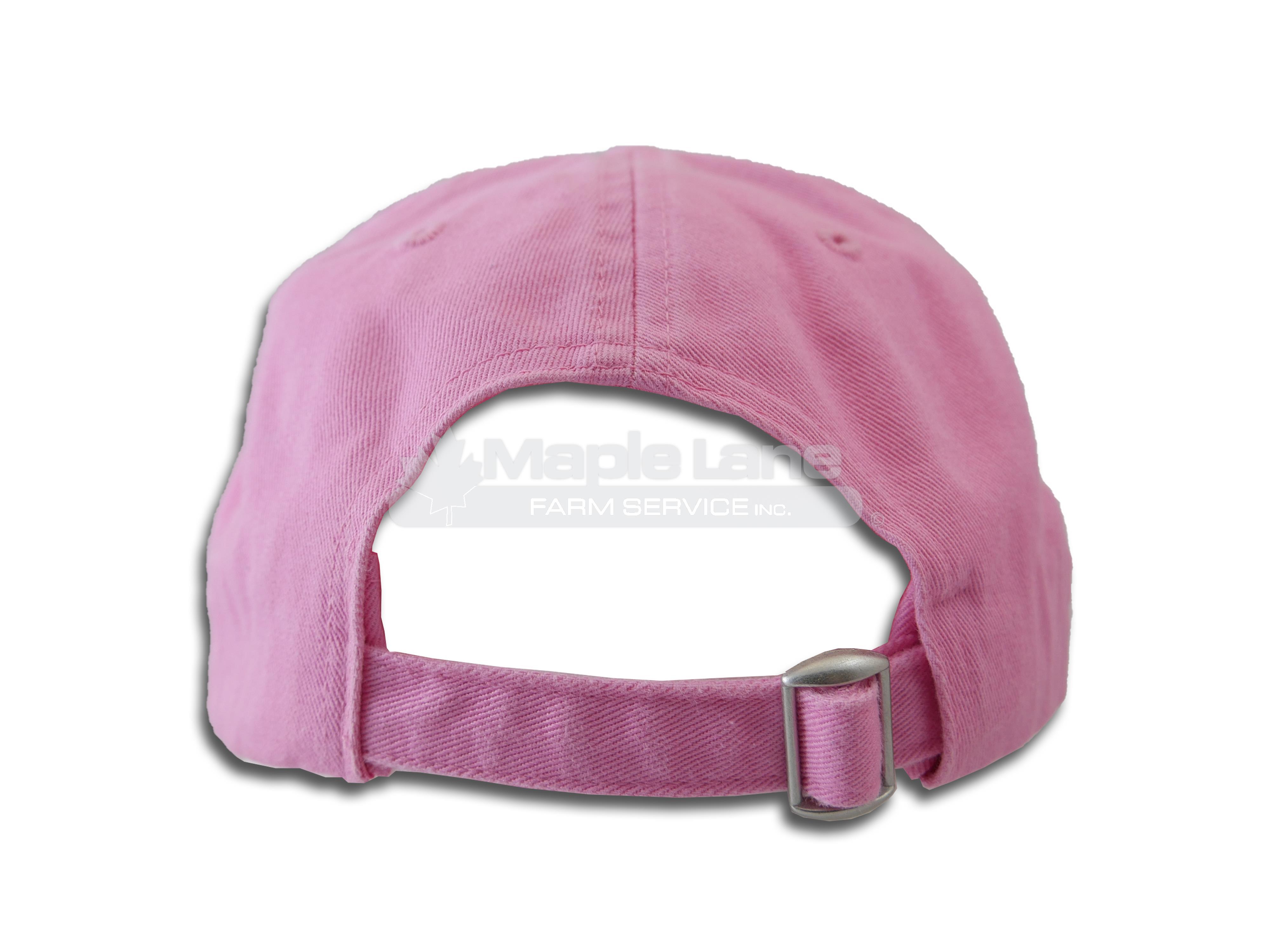 massey pink worn brim ladies hat