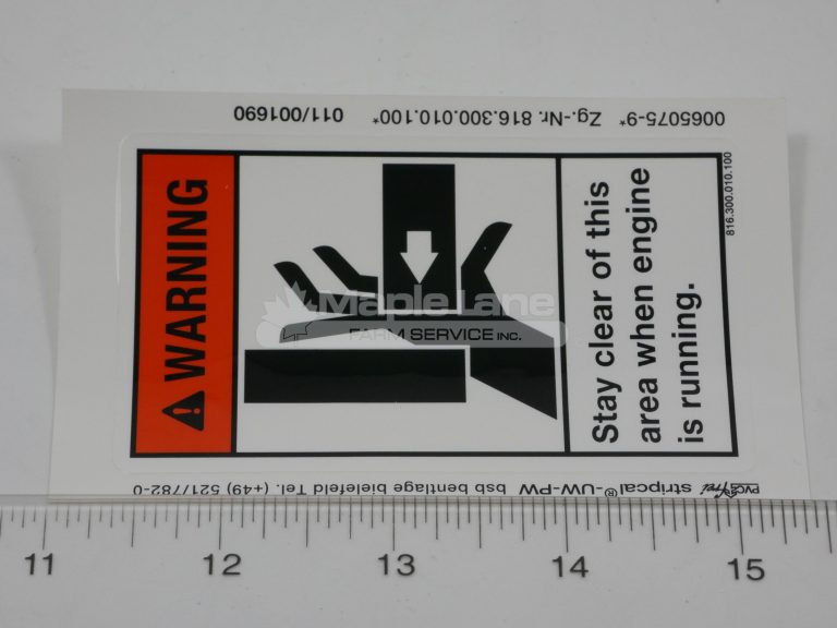 72314594 Axle Pinch Decal
