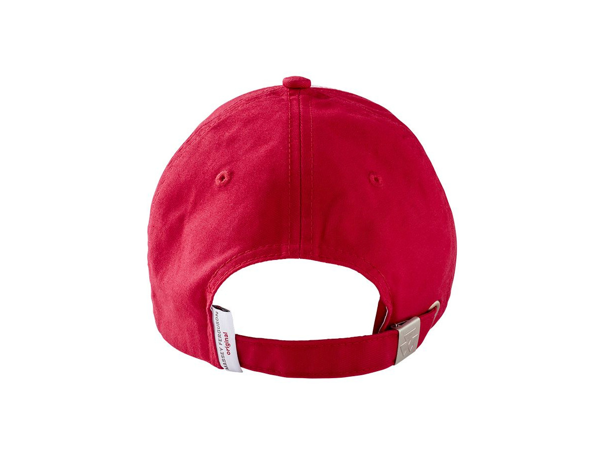 mf red and white hat