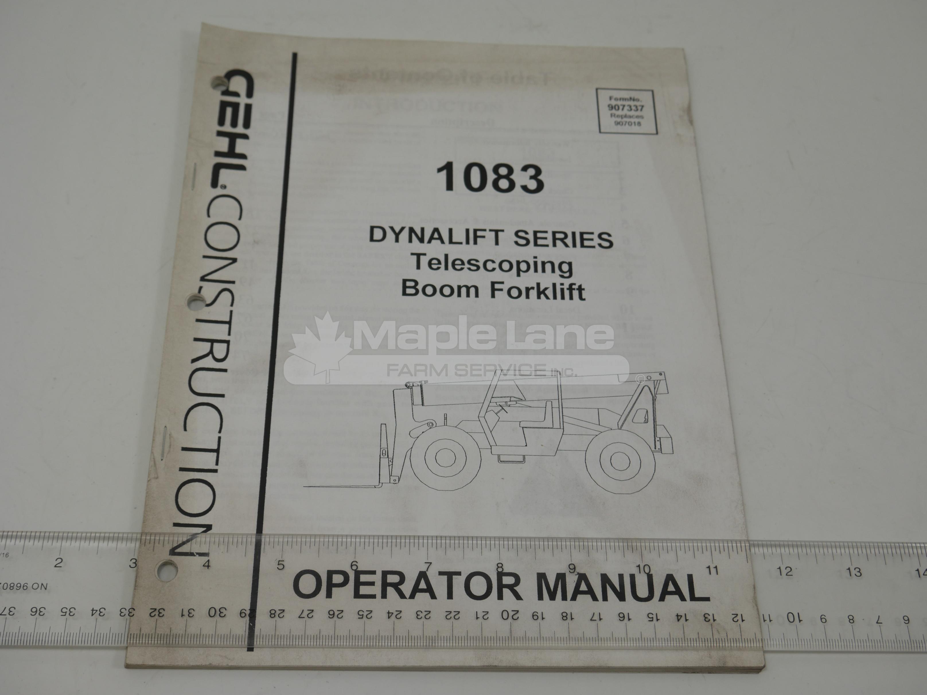 907337 Operator Manual