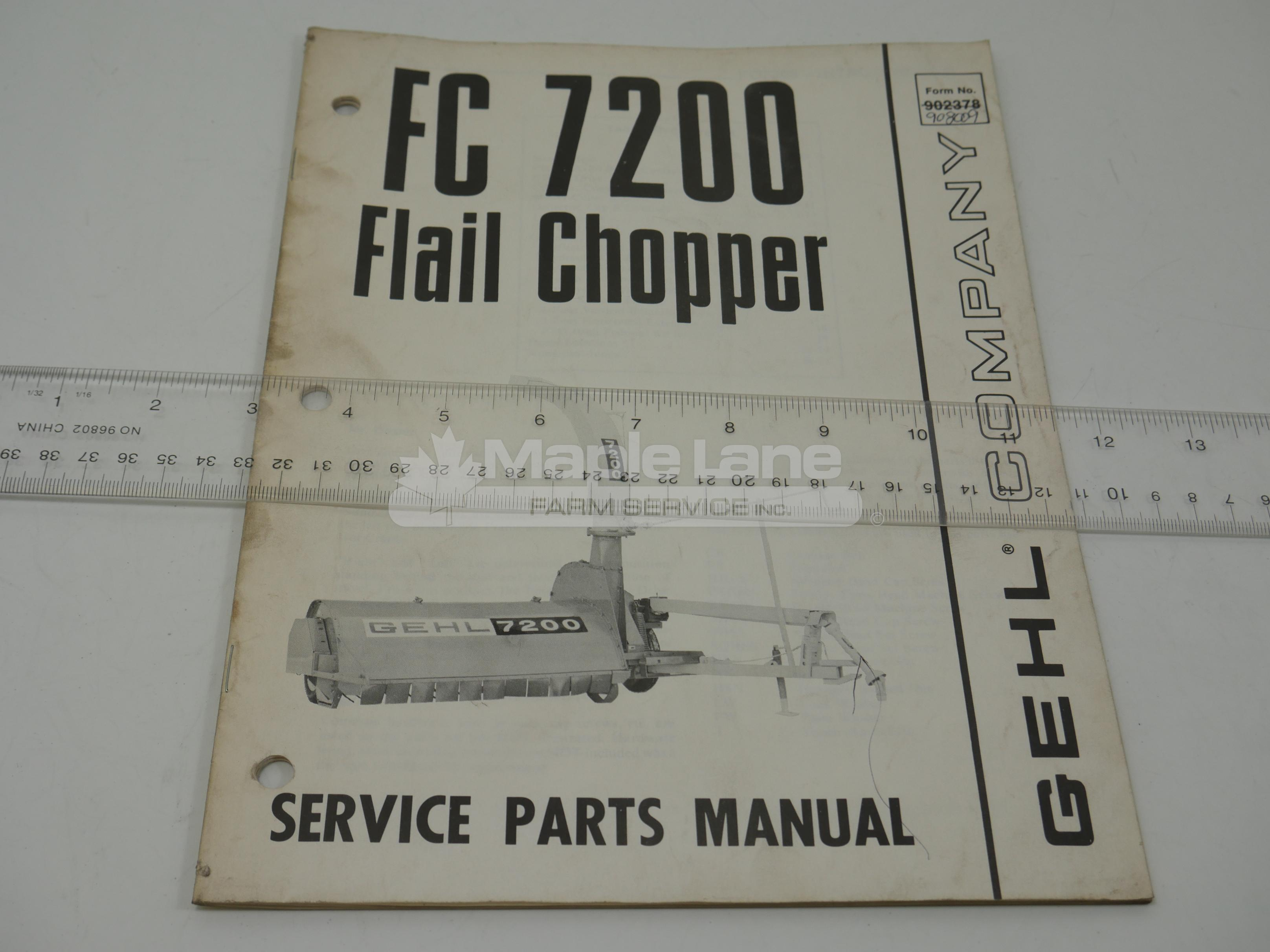 908009 FC7200 Parts Manual
