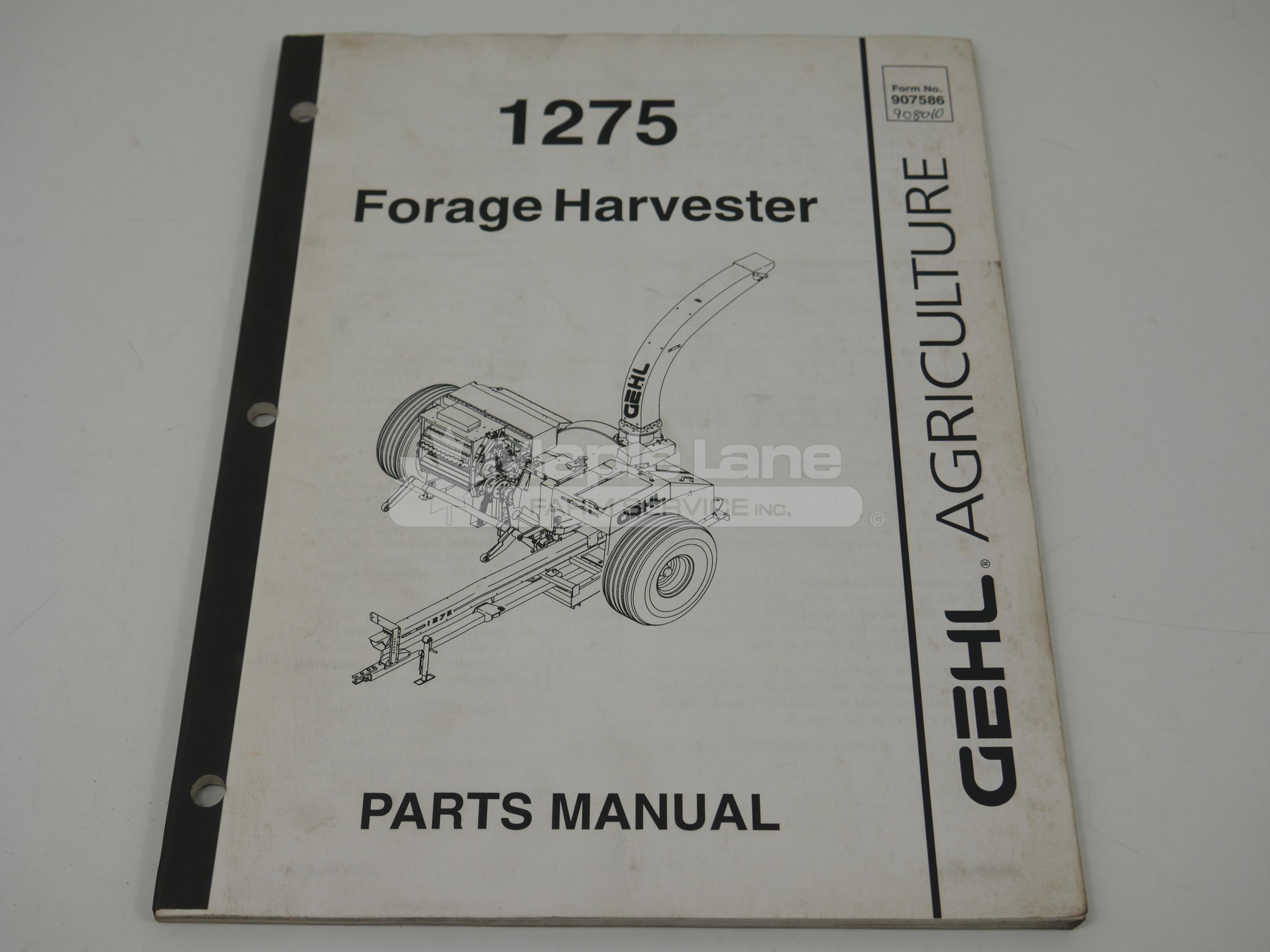 908010 1275 Parts Manual