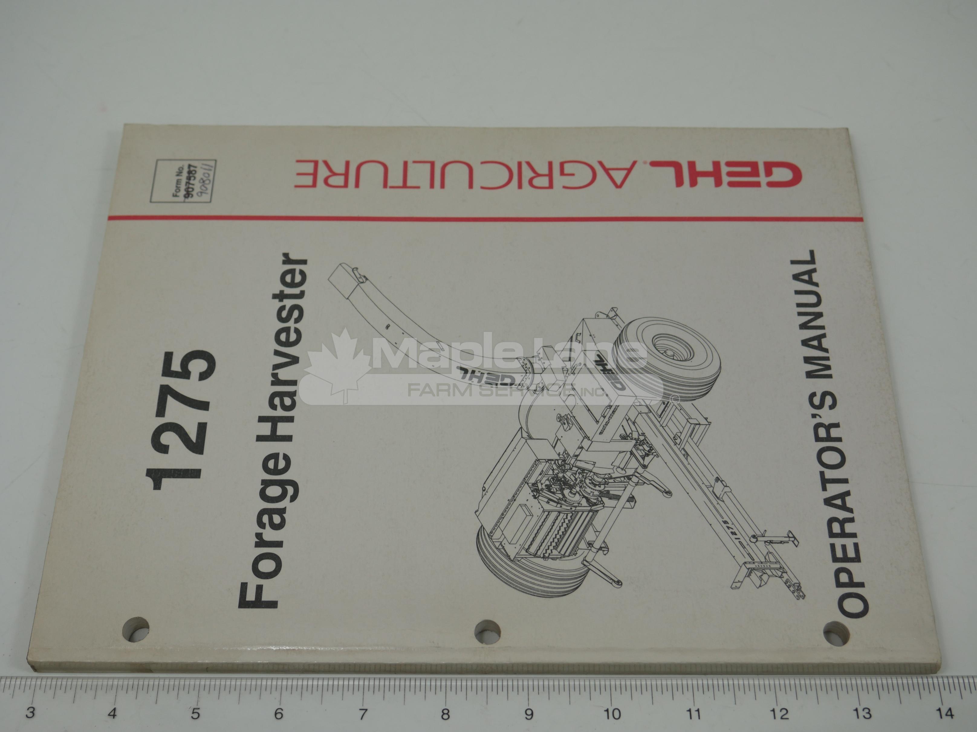 908011 1275 Operator Manual