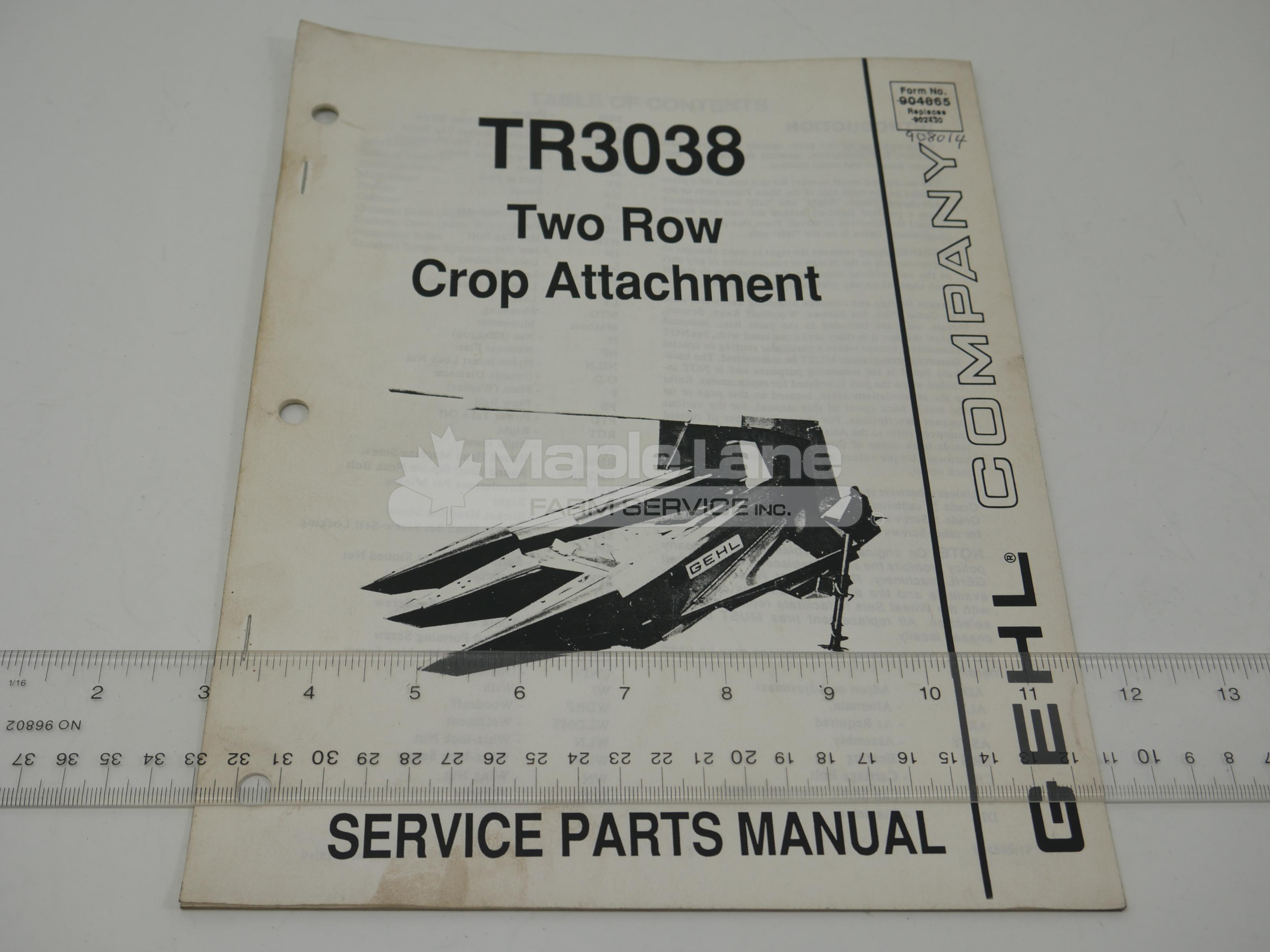 908014 Parts Manual
