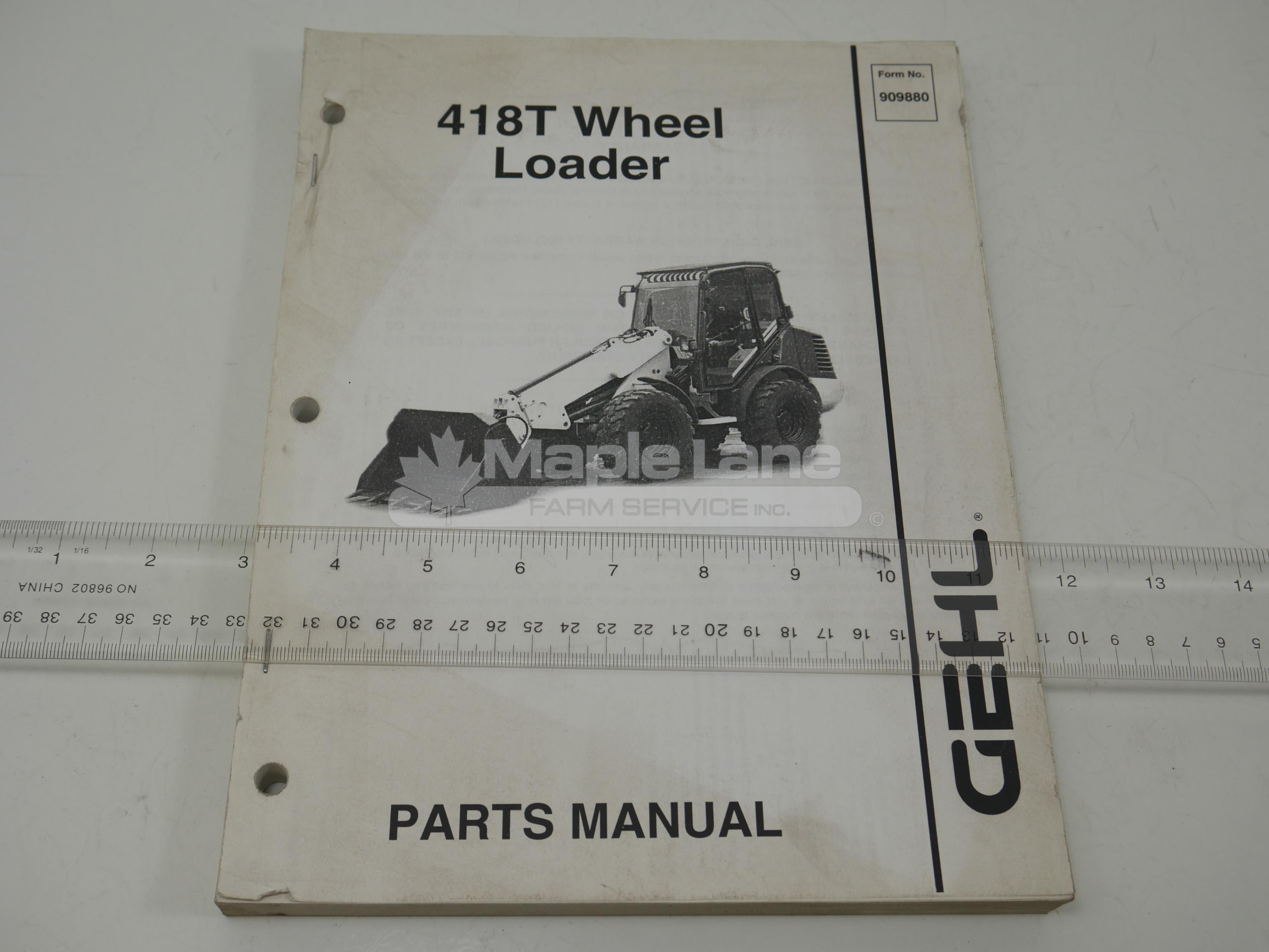 909880 Parts Manual