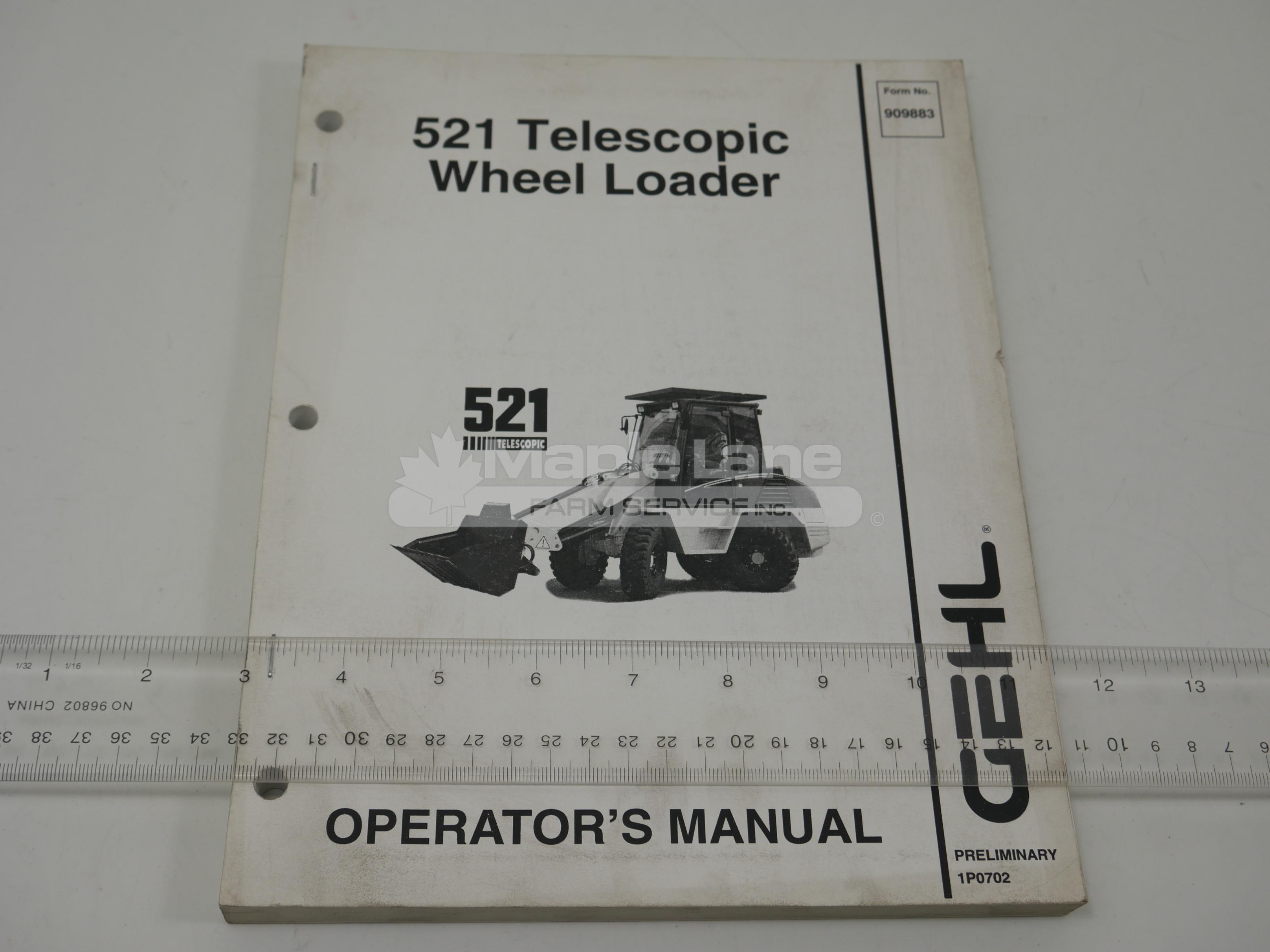 909883 Operator Manual