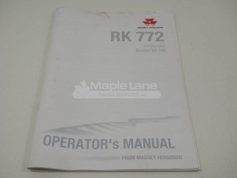 72624782 RK 772 Operator Manual