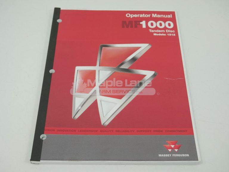 9971083MFB 1000 Series Disc Manual