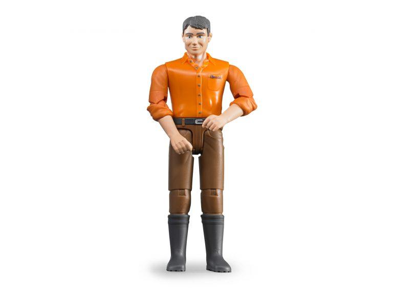 Bruder Man Orange Shirt and Boots