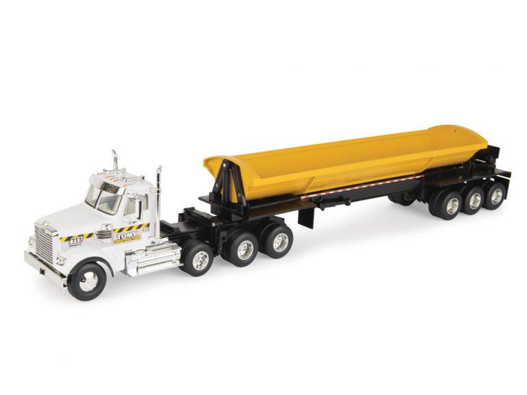 Freightliner With Side Dump Trailer
