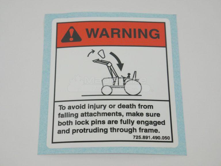 72423018 Warning Decal