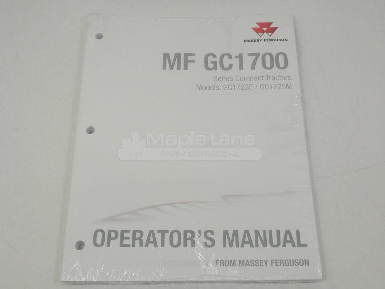 ACW7152790 Operator Manual GC1700