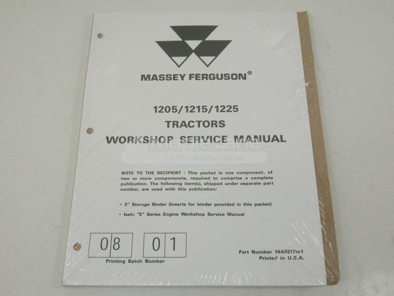 1449217M1 MF1225 Service Manual